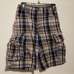 The Children's Place Navy Plaid Shorts 12